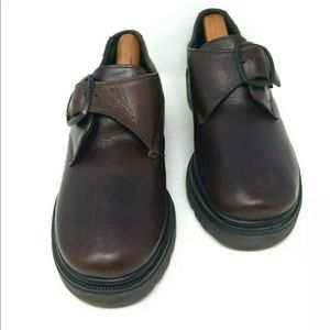 EASTLAND LEATHER MONK STRAP OXFORDS CHUNKY SOLES